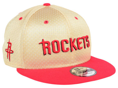 Houston Rockets New Era NBA Champagne 9FIFTY Snapback Cap