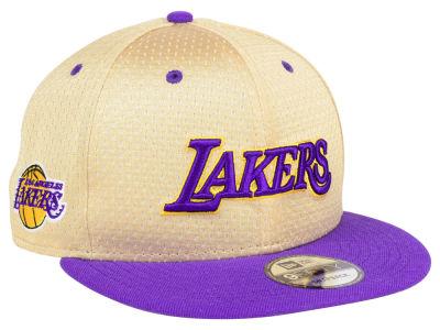 Los Angeles Lakers New Era NBA Champagne 9FIFTY Snapback Cap