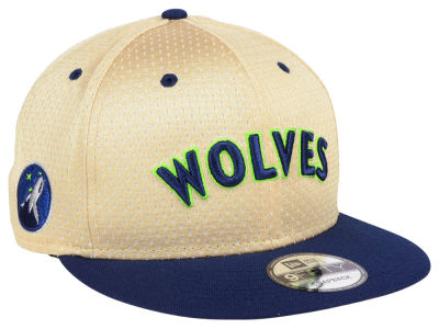 Minnesota Timberwolves New Era NBA Champagne 9FIFTY Snapback Cap
