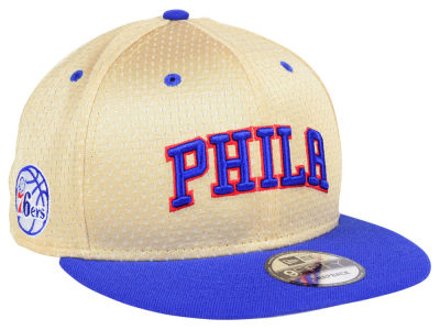 Philadelphia 76ers New Era NBA Champagne 9FIFTY Snapback Cap