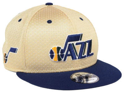 Utah Jazz New Era NBA Champagne 9FIFTY Snapback Cap