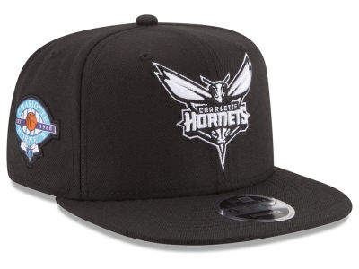 Charlotte Hornets New Era NBA Anniversary Patch 9FIFTY Snapback Cap