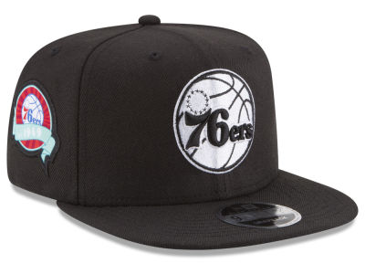 Philadelphia 76ers New Era NBA Anniversary Patch 9FIFTY Snapback Cap