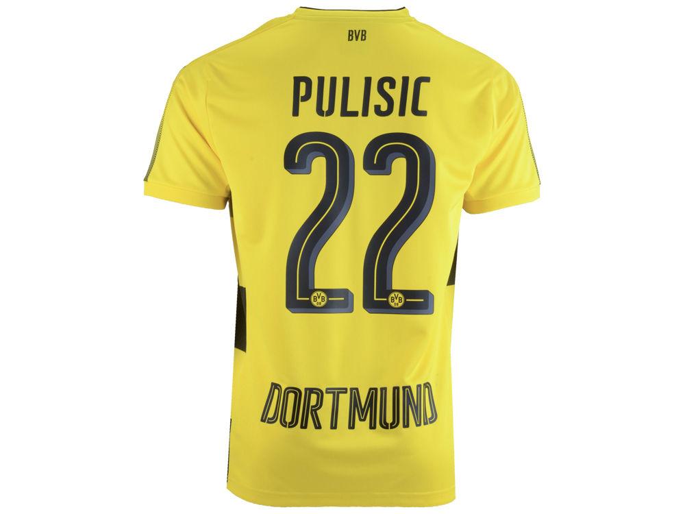 4fd041fe0 Borussia Dortmund Christian Pulisic Puma Men s Club Home Team Jersey ...