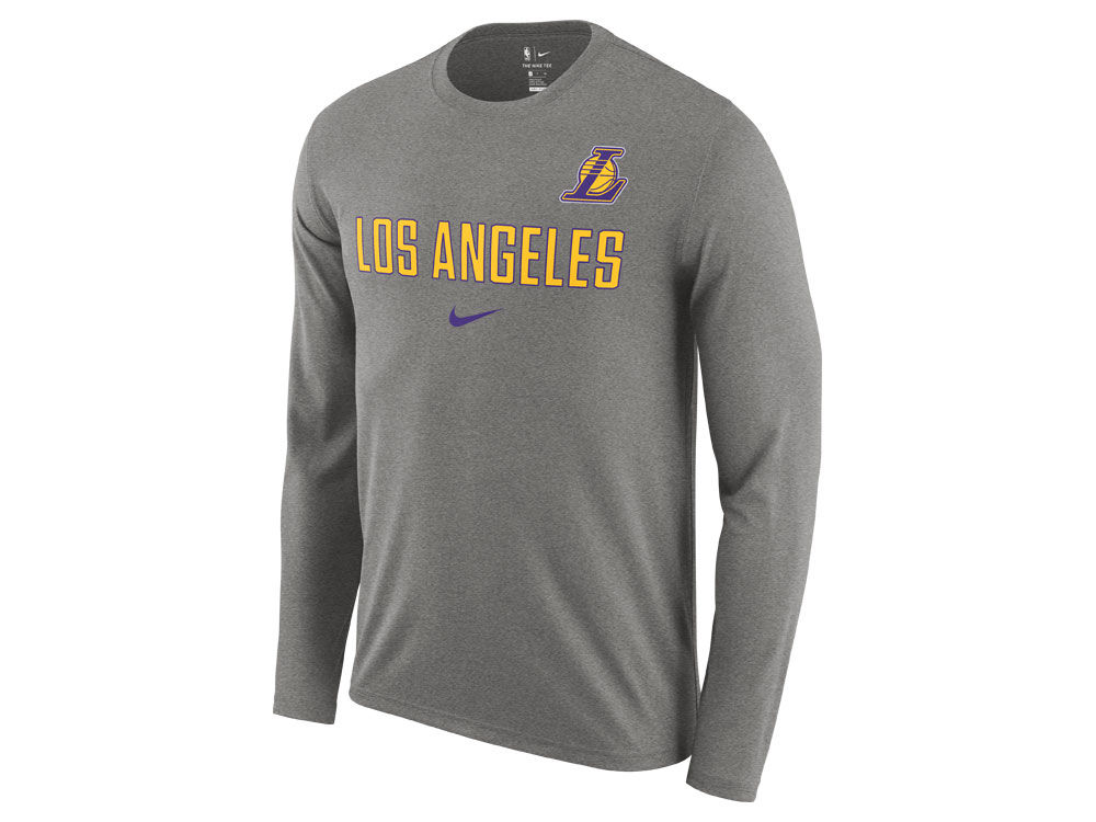 3517e5606f3 Los Angeles Lakers Nike NBA Men s Essential Facility Long Sleeve T-Shirt
