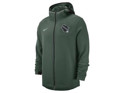 Milwaukee Bucks Nike NBA Men s Dry Showtime Full Zip Hoodie c8ca4c90e