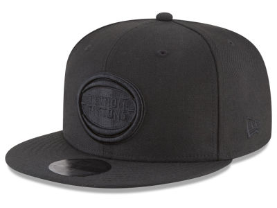 Detroit Pistons New Era NBA Blackout 59FIFTY Cap