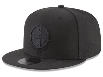 San Antonio Spurs New Era NBA Blackout 59FIFTY Cap