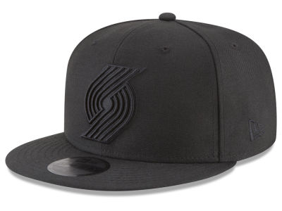 Portland Trail Blazers New Era NBA Blackout 59FIFTY Cap