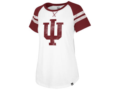 Indiana Hoosiers '47 NCAA Women's Fly Out Raglan T-Shirt