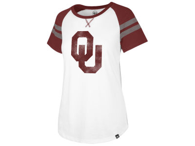 Oklahoma Sooners '47 NCAA Women's Fly Out Raglan T-Shirt