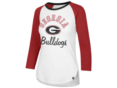 Georgia Bulldogs '47 NCAA Women's Script Splitter Raglan T-shirt