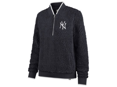 New York Yankees '47 MLB Women's Sherpa Quarter Zip Pullover