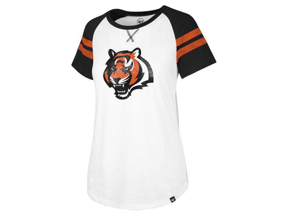 Cincinnati Bengals  47 NFL Women s Flyout Raglan T-Shirt  fee53bb59