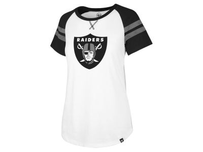 Oakland Raiders '47 NFL Women's Flyout Raglan T-Shirt