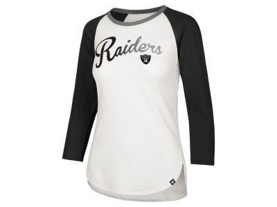 Oakland Raiders '47 NFL Women's Splitter Ombre Raglan T-shirt