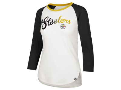 Pittsburgh Steelers '47 NFL Women's Splitter Ombre Raglan T-shirt