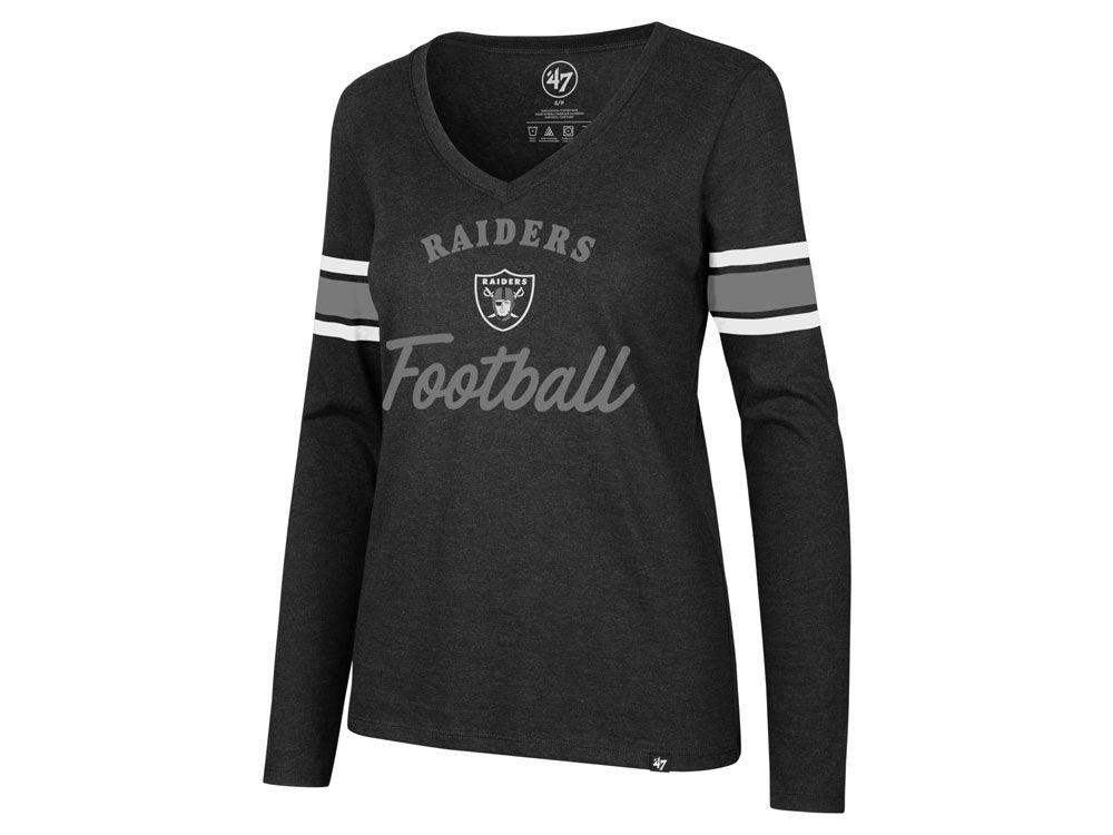 Oakland Raiders  47 NFL Women s Spirit Script Long Sleeve T-Shirt ... 219d1ad07