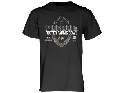 Purdue Boilermakers Blue 84 2017 NCAA Men's Spiral Stripe Bowl Bound T-Shirt