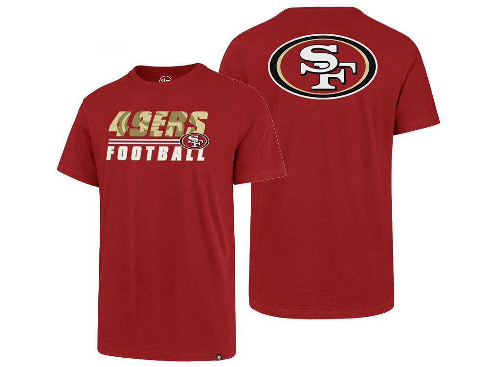 San Francisco 49ers  47 NFL Men s Fade Back Super Rival T-Shirt ... e1c4bec1e