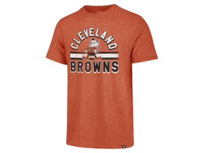 Cleveland Browns '47 NFL Men's Team Stripe Match Tri-blend T-Shirt