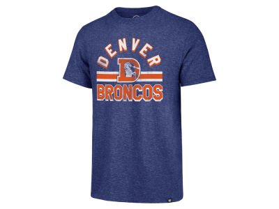 Denver Broncos '47 NFL Men's Team Stripe Match Tri-blend T-Shirt