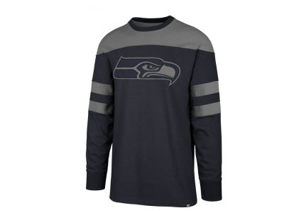 Seattle Seahawks  47 NFL Men s Gunner Crew Long Sleeve T-shirt e3ee0bf92