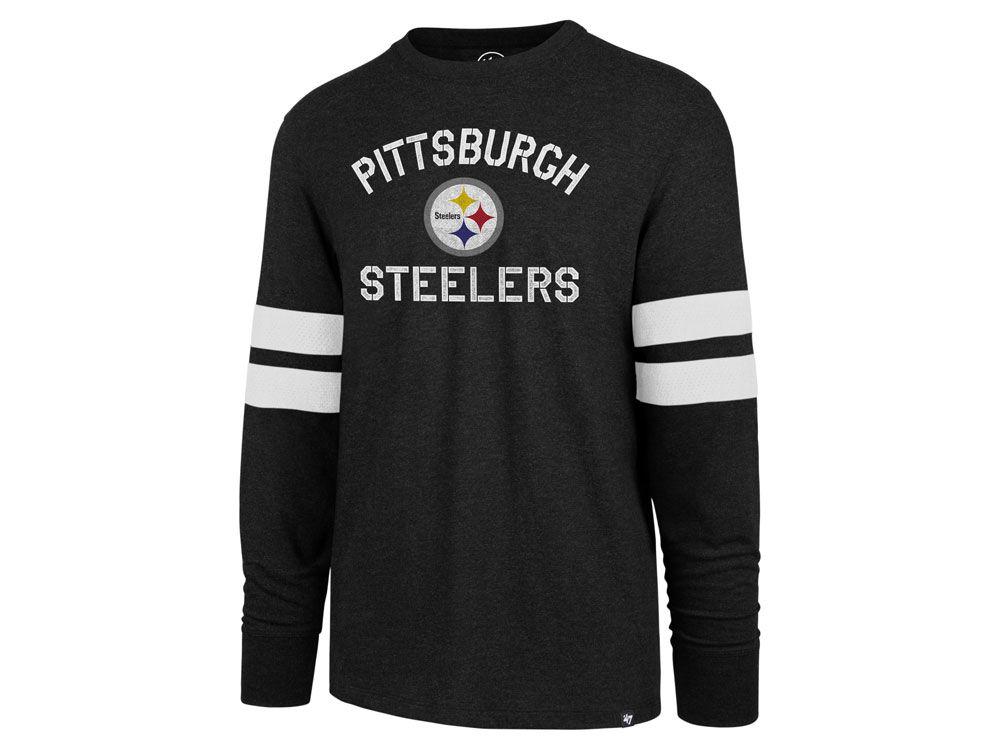 cea800907 Pittsburgh Steelers  47 NFL Men s Scramble Long Sleeve Club T-Shirt ...