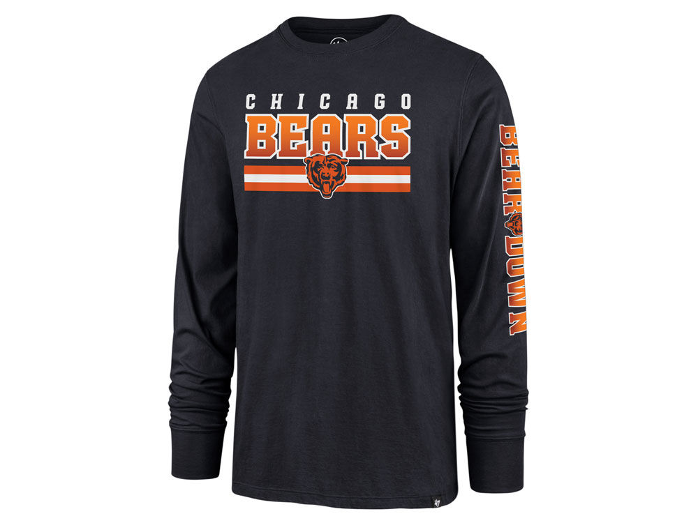 2e2cfa2f Chicago Bears '47 NFL Men's Level Up Long Sleeve Super Rival T-Shirt |  lids.com