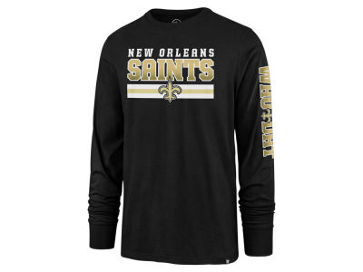 New Orleans Saints '47 NFL Men's Level Up Long Sleeve Super Rival T-Shirt
