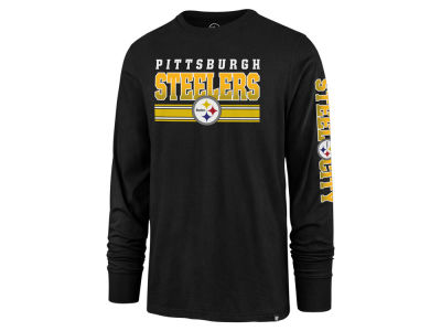 Pittsburgh Steelers '47 NFL Men's Level Up Long Sleeve Super Rival T-Shirt