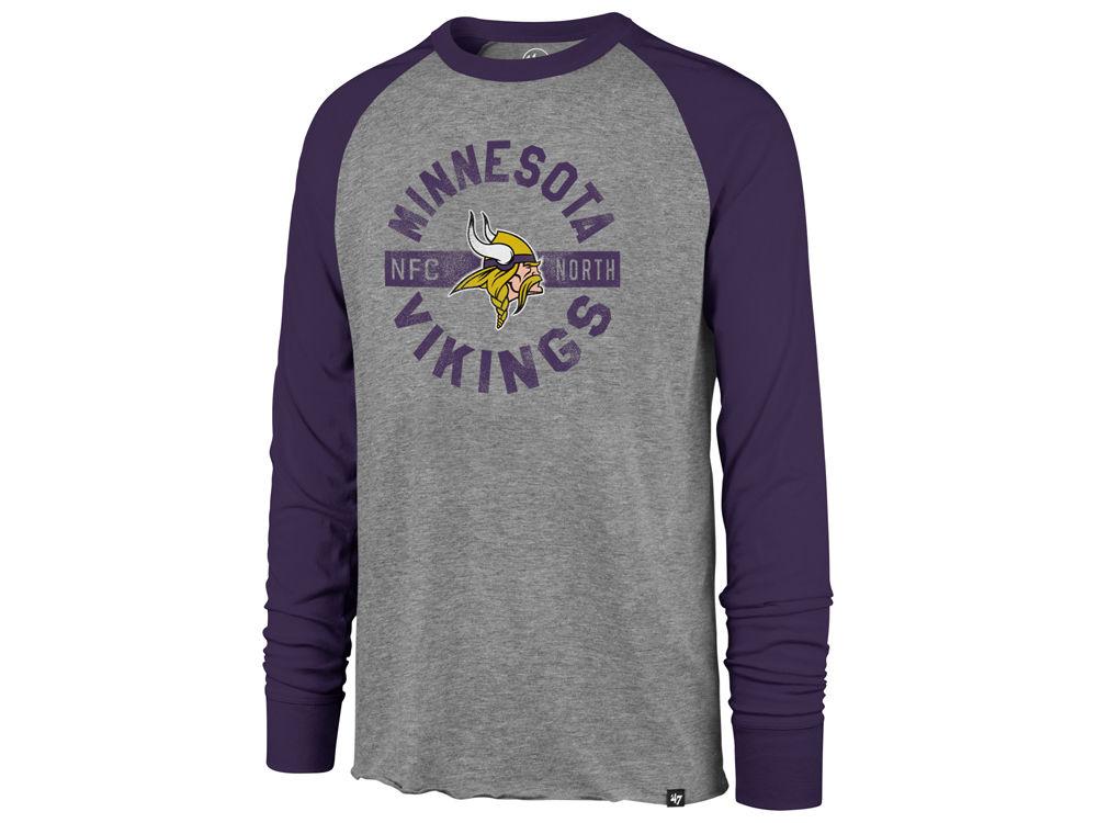 Minnesota Vikings  47 NFL Men s Retro Encircled Long Sleeve Club Raglan T- shirt  ed8b722ce