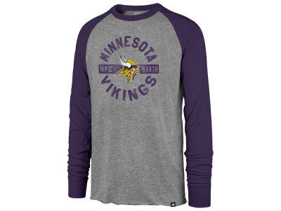 Minnesota Vikings '47 NFL Men's Retro Encircled Long Sleeve Club Raglan T-shirt
