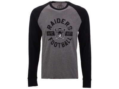 Oakland Raiders '47 NFL Men's Retro Encircled Long Sleeve Club Raglan T-shirt