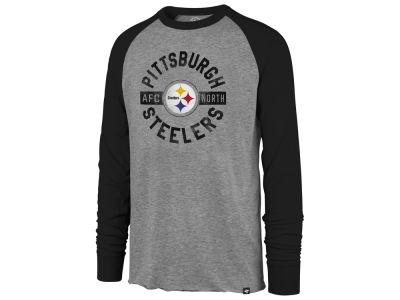 Pittsburgh Steelers  47 NFL Men s Retro Encircled Long Sleeve Club Raglan T- shirt 81088a911