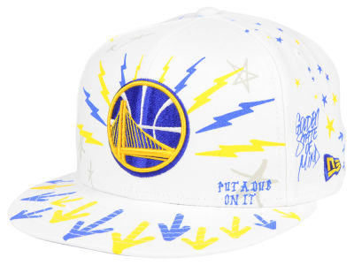 Golden State Warriors New Era Write On 9FIFTY Snapback Cap