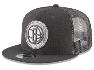 Brooklyn Nets New Era NBA Almost Tonal Trucker 9FIFTY Snapback Cap