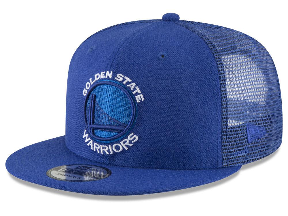 Golden State Warriors New Era NBA Almost Tonal Trucker 9FIFTY Snapback Cap   232d509fead5