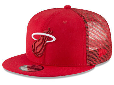 Miami Heat New Era NBA Almost Tonal Trucker 9FIFTY Snapback Cap