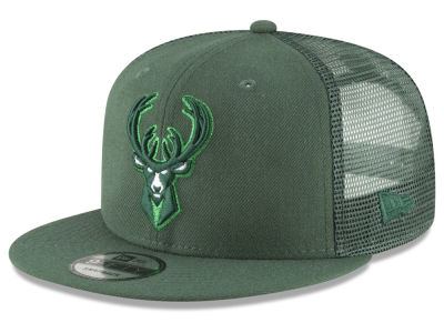 Milwaukee Bucks New Era NBA Almost Tonal Trucker 9FIFTY Snapback Cap