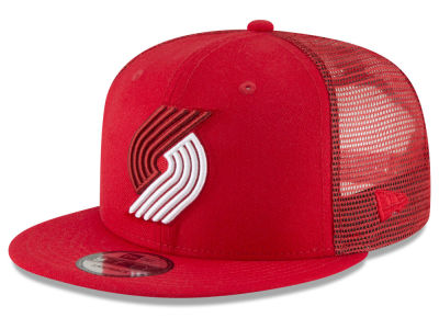 Portland Trail Blazers New Era NBA Almost Tonal Trucker 9FIFTY Snapback Cap