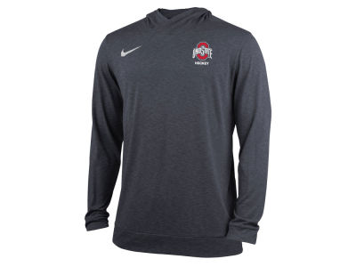 Ohio State Buckeyes Nike NCAA Men's Dri-Fit Hockey Hooded Long Sleeve T-Shirt
