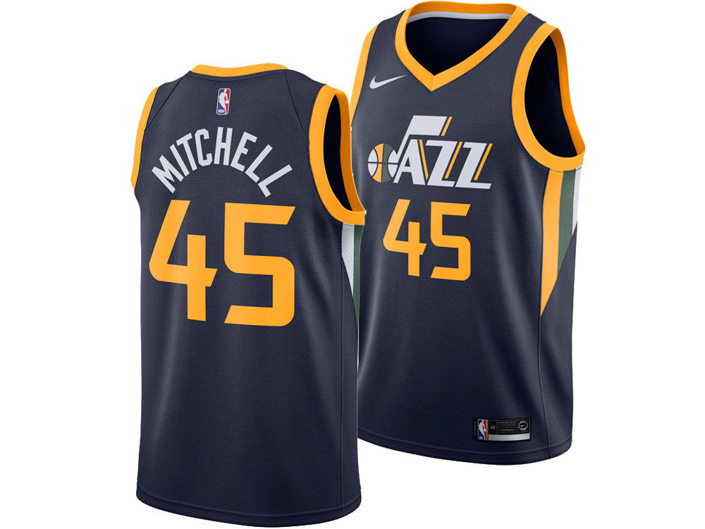 Utah Jazz Donovan Mitchell Nike NBA Men s Icon Swingman Jersey. Utah Jazz  Donovan Mitchell Nike NBA Men s Icon Swingman Jersey be79f6971