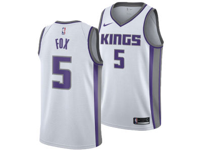 Sacramento Kings DeAaron Fox Nike NBA Men's Association Swingman Jersey