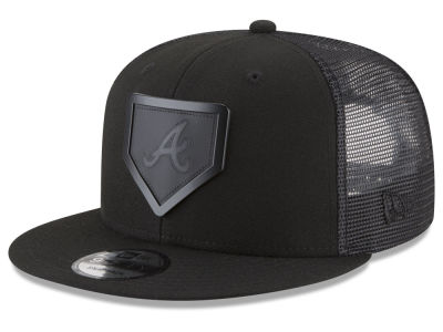 Atlanta Braves New Era MLB Leather Metal Plate 9FIFTY Snapback Cap