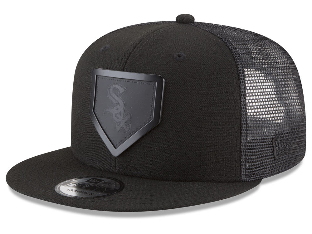 more photos af89a 1fb00 ... discount chicago white sox new era mlb leather metal plate 9fifty  snapback cap b9ac0 06531