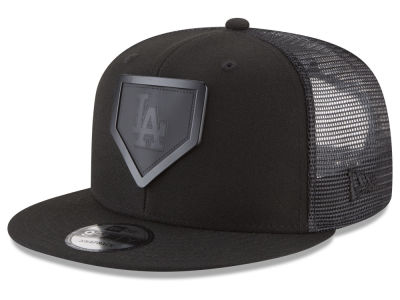 Los Angeles Dodgers New Era MLB Leather Metal Plate 9FIFTY Snapback Cap