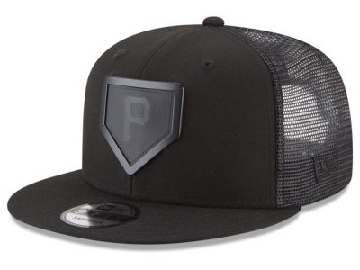 Pittsburgh Pirates New Era MLB Leather Metal Plate 9FIFTY Snapback Cap