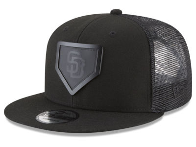 San Diego Padres New Era MLB Leather Metal Plate 9FIFTY Snapback Cap