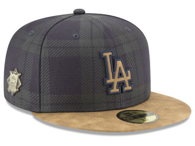 Los Angeles Dodgers New Era MLB Plaid 59FIFTY Cap